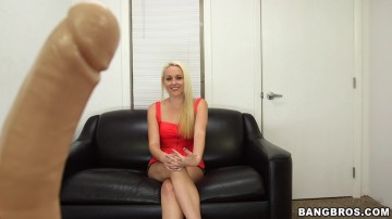 Ashley Stone - Blonde shoots her first porno and gets a facial