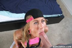 Carter Cruise - Sexy blonde cums and swallows big load (Thumb 120)