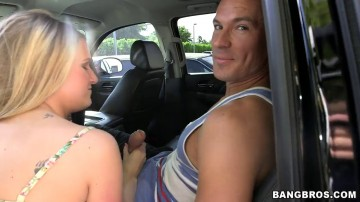 Dixie Belle - Amateur Blonde With A Fat Ass Sucks Dick, Then Bent Over And Fucked!