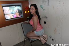 London Keyes - London Keyes Sucks Dick And Fucked In The Glory Hole! (Thumb 06)