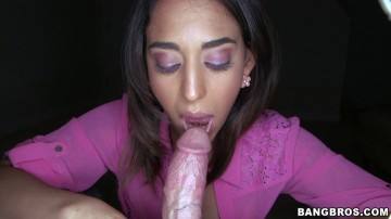 Penelope Stone - Amateur hottie sucks some great dick