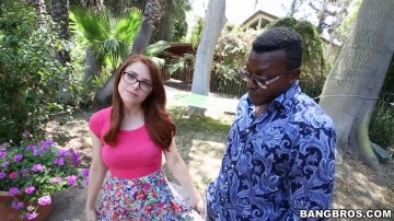 Penny Pax - Redhead smashed by black cock