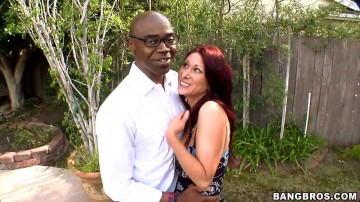 Tiffany Mynx - Tiffany Mynx sucks on a huge dick
