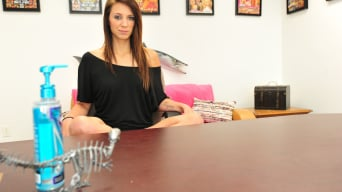 Ashley Storm in 'New girl gets a facial'