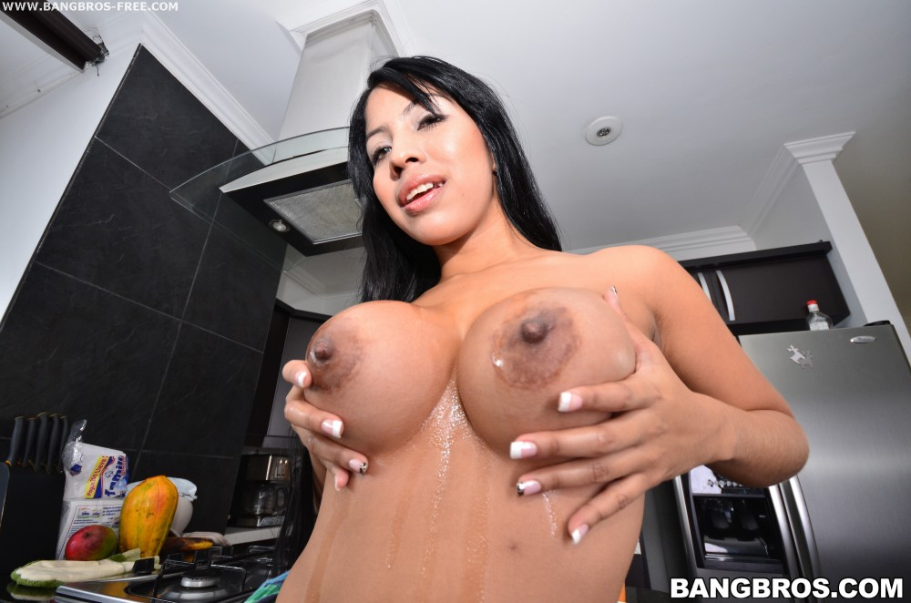 Colombian amateur with huge tits gets fucked hardcore
