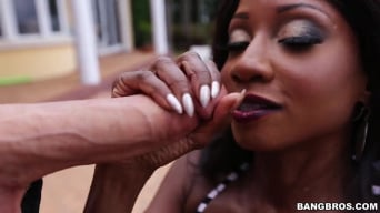 Diamond Jackson in 'Gets Plastered With Cum'