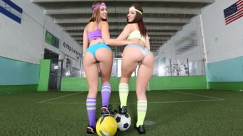 Jada Stevens in 'Two amazing asses both get drilled on the field'