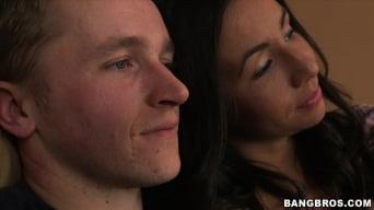 Jazmyn in 'Horny stepmom shares stepdaughter and boyfriend.'