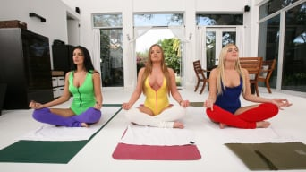 Mercedes Lynn in 'Lesbian Yoga Party!'