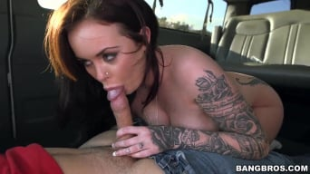 Roxii Blair in 'Rocker chick banged on the bus'