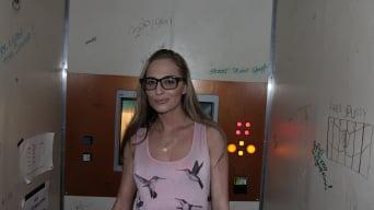Roxy Rox in 'Petite blonde amateur sucks 3 cocks'