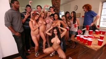 Sara Jay В 'Dorm invasion at college party'