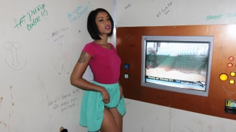 Skin Diamond in 'Petite black girl in the glory hole'