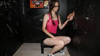 Tali Dova in 'Nerdy White Girl Guzzles 4 Dicks'